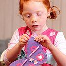 'Make & Sew' Felt Butterfly Kit In Lilac
