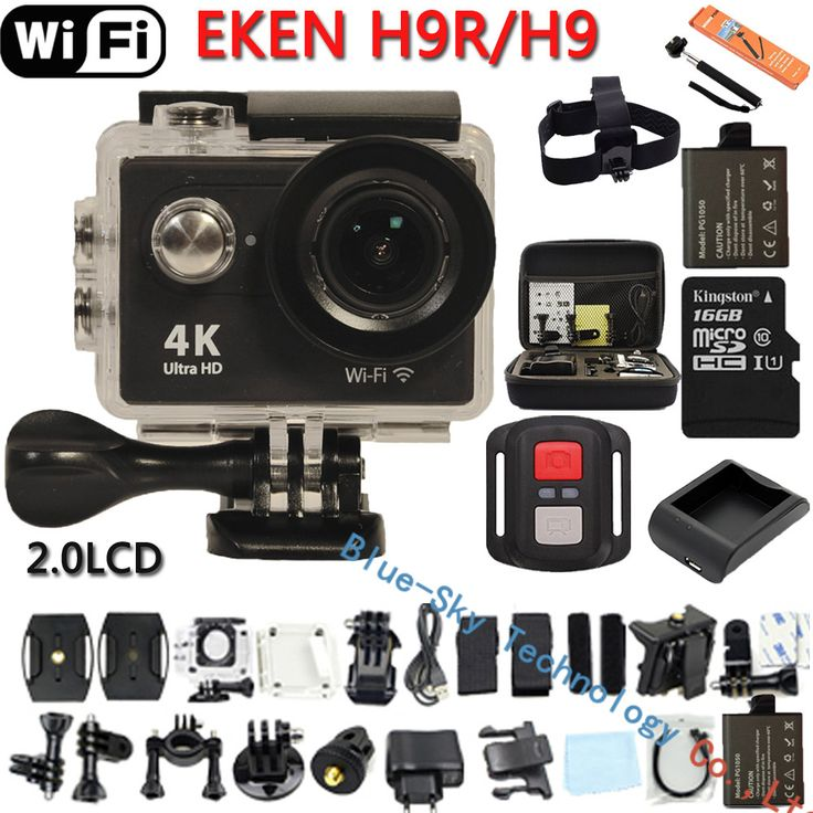 Original Eken H9 / H9R  Ultra HD 4K  WiFi Action Camera Remote Control Sports Video Cam  DVR DV go Waterproof pro Camera