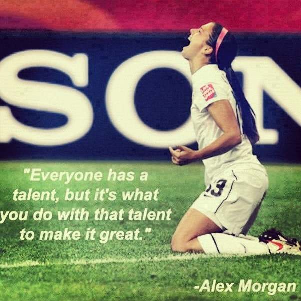 I love Alex Morgan, she's a beast