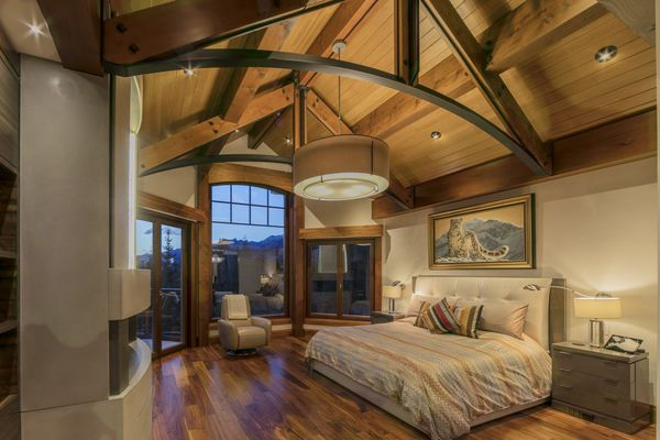 Bow Valley Timberframe Home Master Bedroom