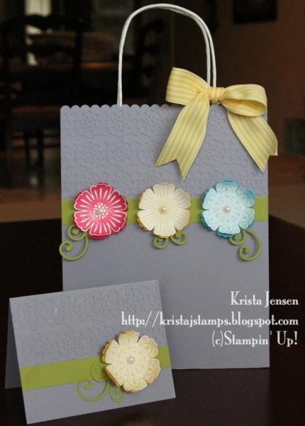 Cute Homemade gift bag & matching card :)