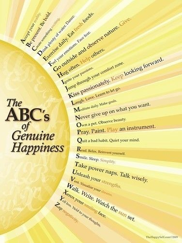 The ABC's of genuine happiness picture on VisualizeUs