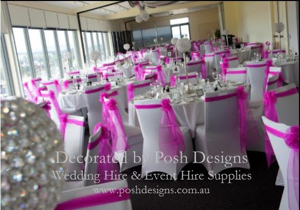 #Hot pink sashes #Crystal globe table centres - #wedding and #event #theming  #poshdesignsweddings - #sydneyweddings #countryweddings #southcoastweddings #wollongongweddings #ruffledsashes #weddingsashes All stock owned by Posh Designs Wedding & Event Supplies – lisa@poshdesigns.com.au or visit www.poshdesigns.com.au or www.facebook.com/.poshdesigns.com.au #Wedding #reception #decorations #Outdoor #ceremony decorations #Corporate #event decoration #Fundraising decorations #graduations