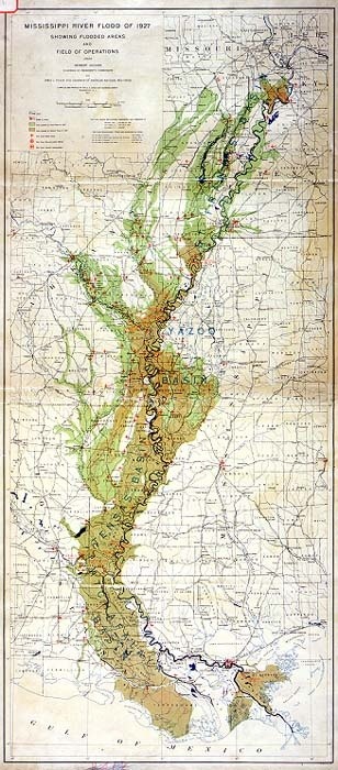 Flood 1927 Mississippi  Interesting Maps  Pinterest
