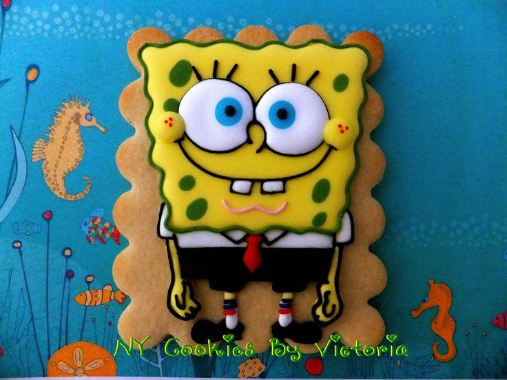 Spongebob squarepants theme cookies 7 pinterest spongebob squarepants cookie spongebob spongebobcookie voltagebd Gallery