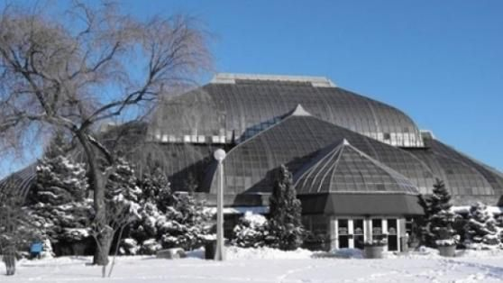 Lincoln Park Conservatory in the winter