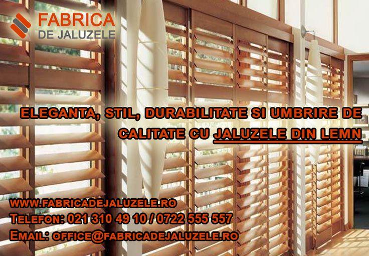 Vrei sa faci o shimbare in interiorul casei sau biroului? Alege umbrirea cu ajutorul jaluzelelor din lemn! Acestea vor oferi un nou aspect interioarelor tale, caracterizat prin eleganta si stil. Un alt factor important care se numara intre carateristicile jaluzelelor din lemn este durabilitatea marita a acestora. Descopera toate detaliile de care ai nevoie inainte de a comanda jaluzele din lemn pe https://fabricadejaluzele.ro/jaluzele-din-lemn/