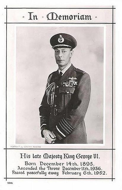 King George VI, Queen Elizabeth's father, who was portrayed in The KIng's Speech.