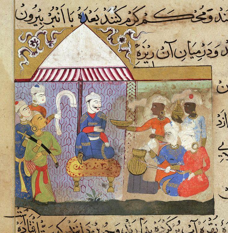 Sultan Ghiyath al-Din Tughluq supervising the preparation of frankincense