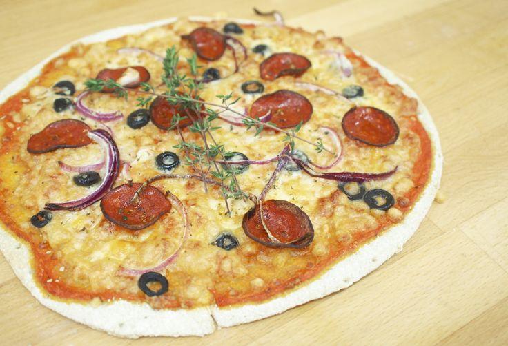 Gluteeniton salami-sipulipizza - Myllärin