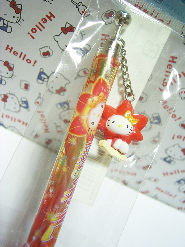 GOTOCHI HELLO KITTY Mechanical Pencil HIROSHIMA Shamoji Maple Ver. MADE IN JAPAN 2004 24.99