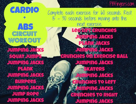 Cardio and Abs Circuit Workout | Peanut Butter Fingers
