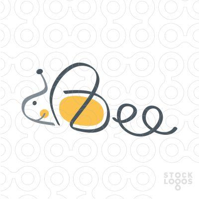 Exclusive Customizable Logo For Sale: Bee | StockLogos.com
