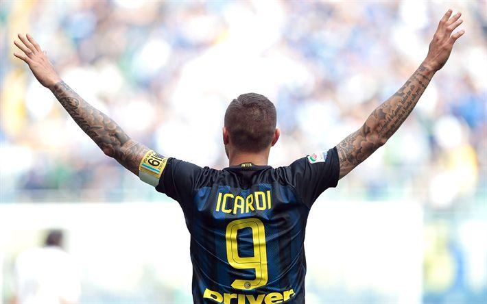 Descargar fondos de pantalla Mauro Icardi, delantero, el Inter de Milán, Seria Un Internazionale, futbolistas