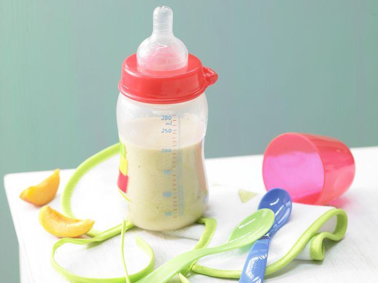 Haferbrei mit Aprikose - Abendmilchbrei (Trinkbrei) ab 9. Monat   Kalorien: 221 Kcal - Zeit: 10 Min.   http://eatsmarter.de/rezepte/haferbrei-aprikose