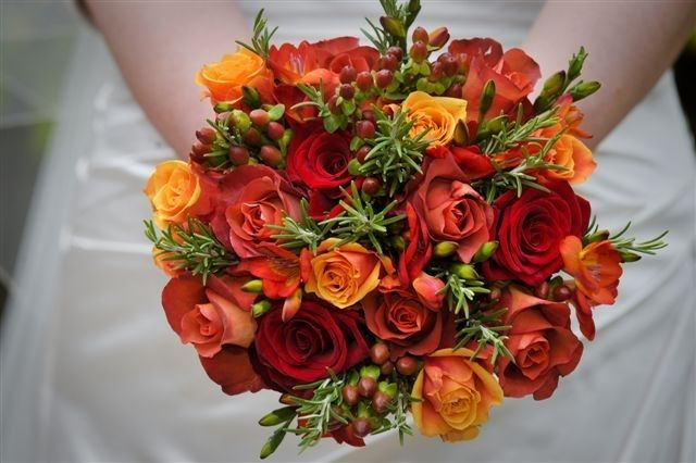 Pops of colour bridal bouquet