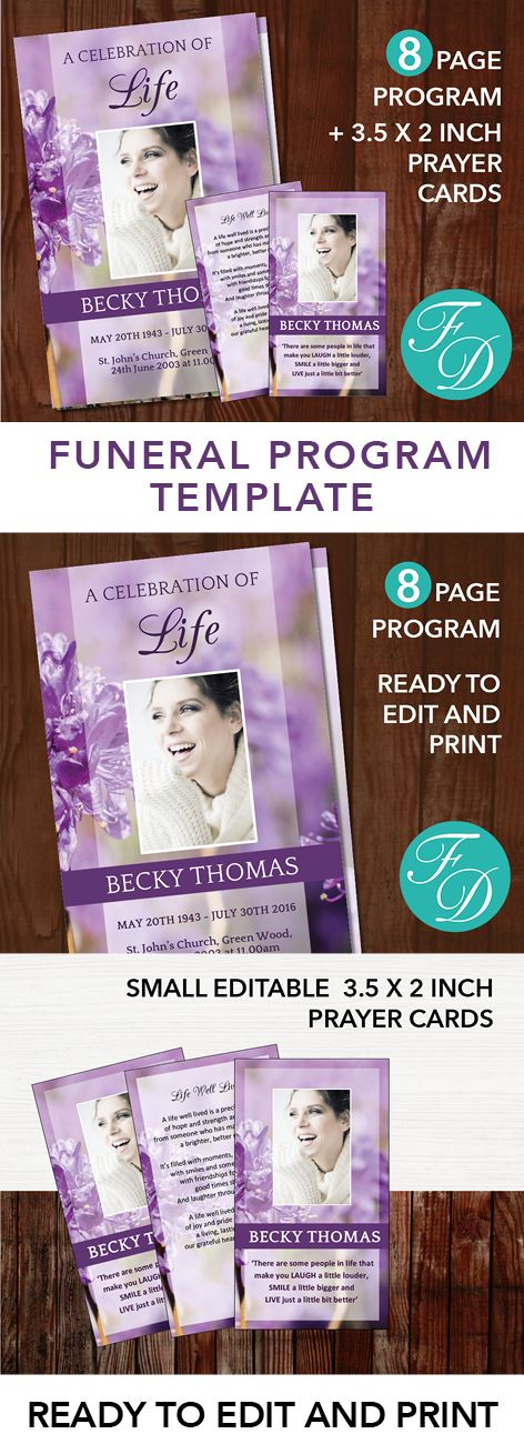 191 best 8 Page Funeral Program Templates images on Pinterest - download funeral program templates