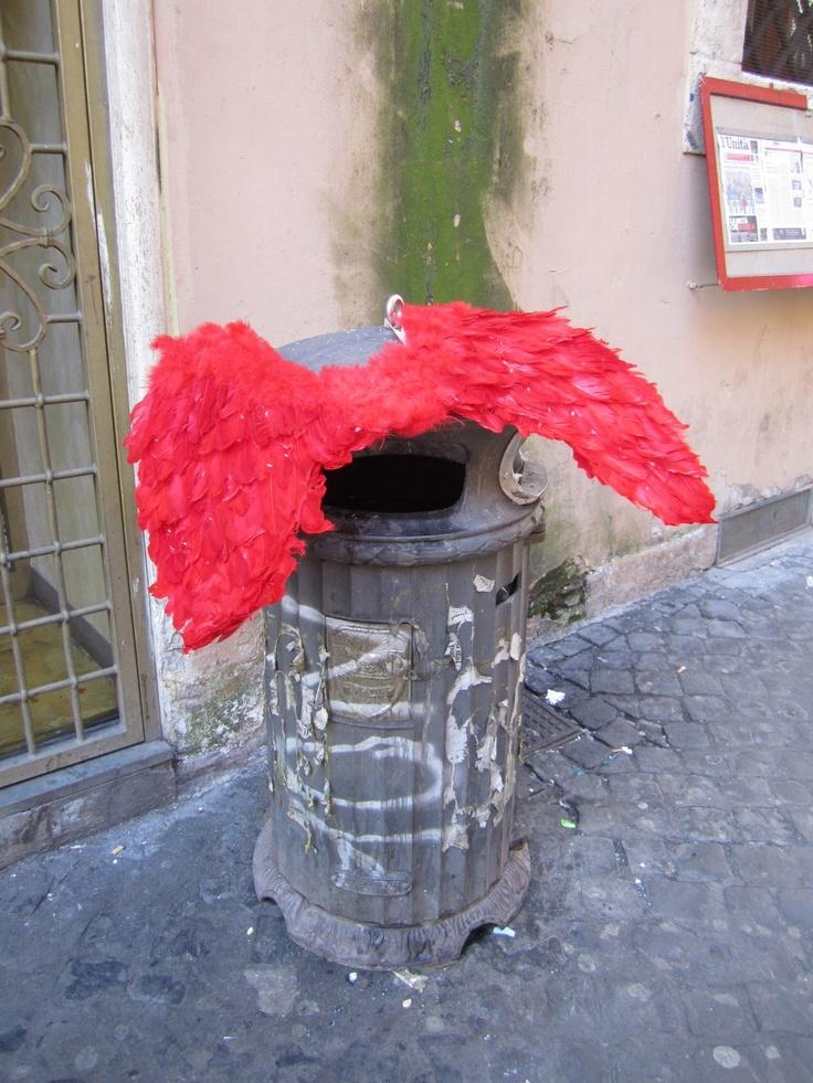 Rooma: Langennut enkeli ?