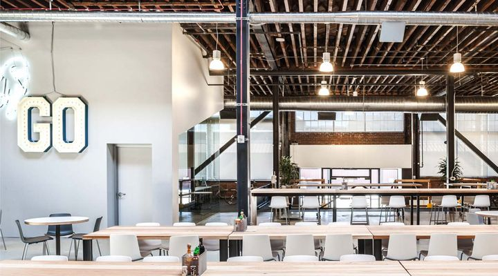Pinterest headquarters by All of the Above & First Office & SaA, San Francisco office healthcare