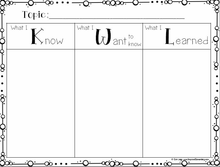 13 best KWL Chart Ideas images on Pinterest Graphic organizers - kwl chart