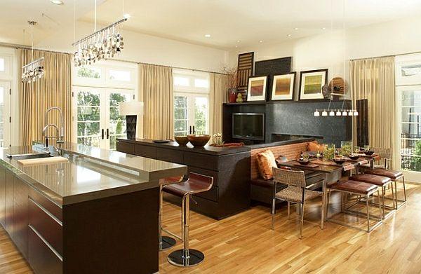 50 Einrichtungsideen für kleine Esszimmer - esszimmer esstisch mit