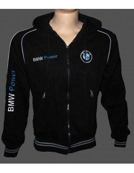 BMW Hooded Fleece Jacket with embroidered logos from http://autofanstore.com