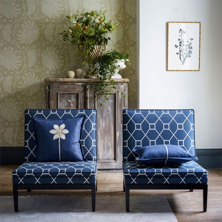 Sanderson - Traditional to contemporary, high quality designer fabrics and wallpapers | Products | British/UK Fabric and Wallpapers | Mapperton (DART216340) | Art Of The Garden Wallpapers