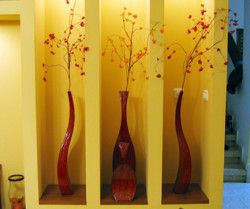 Vases for niche - H:45/80cm