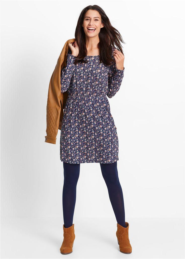 Jerseykleid, Langarm bedruckt - bpc bonprix collection jetzt im Online Shop von bonprix.de ab ? 14,99 bestellen. Mit Rundhalsausschnitt, Gesamtlänge bei ...