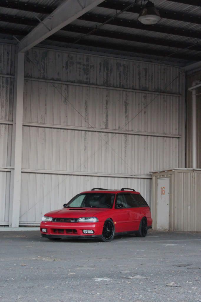 My Red Legacy wagon - StanceWorks