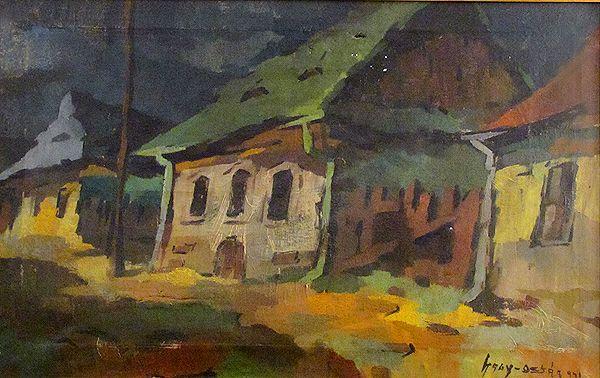Nagy Oszkár: Nagybányai házak - Pintér Aukciósház