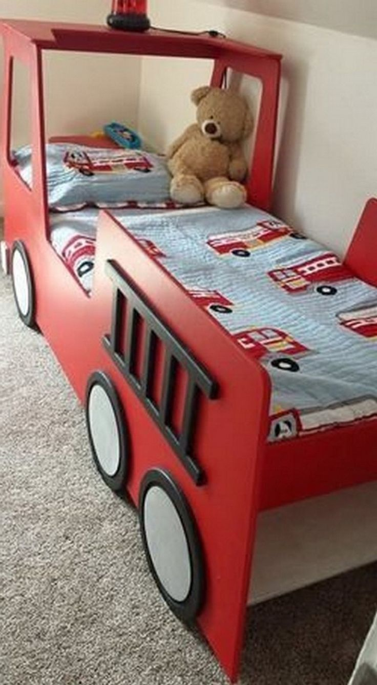 20+ Amazing Room for a Little Boy, The Fire Truck Bed