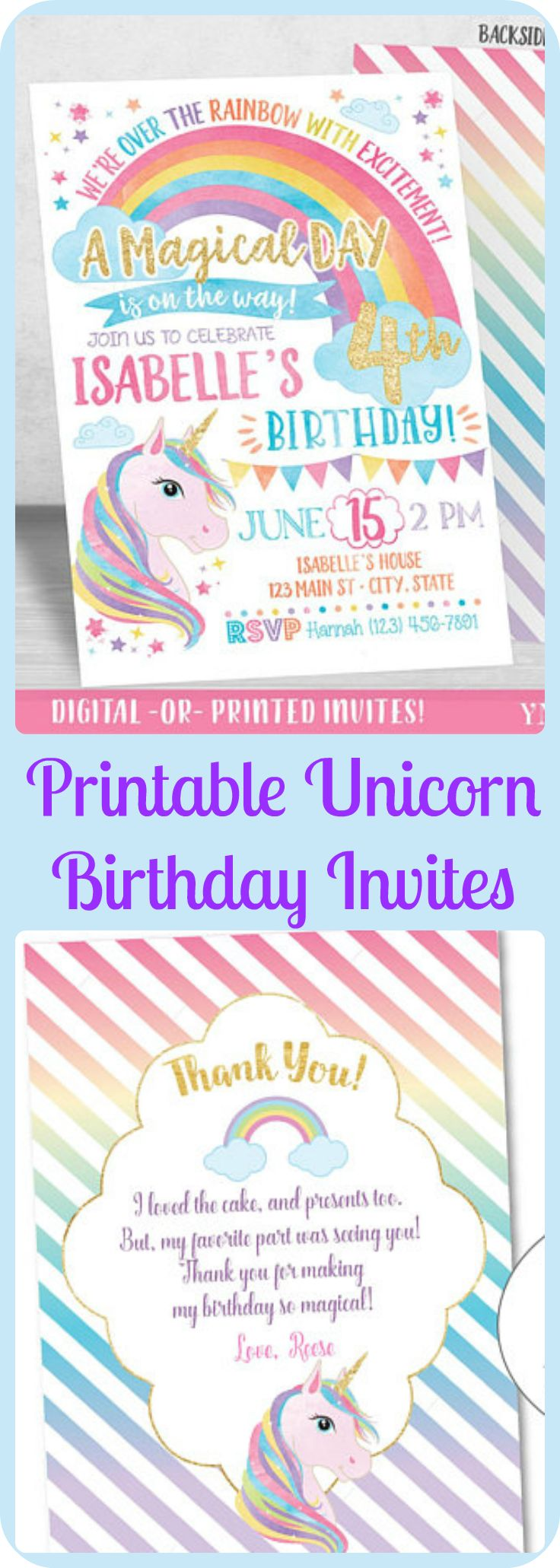 Best 25+ Rainbow birthday invitations ideas on Pinterest | Rainbow ...