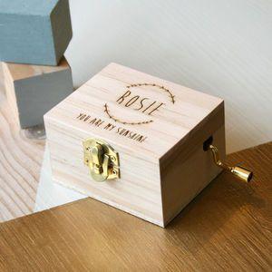 Personalised Music Box - 1st birthday gifts