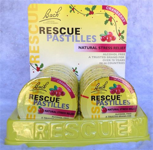Bach Original Flower Remedies Rescue Remedy Pastilles Cranberry are tasty candy especially formulated using the Original Bach Flower Remedy formula for use by the whole family, including children.