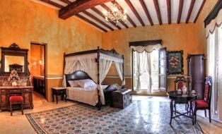 Luxury Suite at Hacienda Kaan Ac - a 16th century restored Hacienda in Valladolid, Mexico.