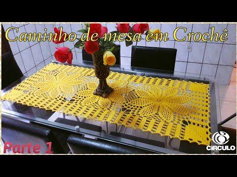 Caminho de Mesa em Crochê 1/2 . Tutorial Por Vanessa Marcondes. - YouTube