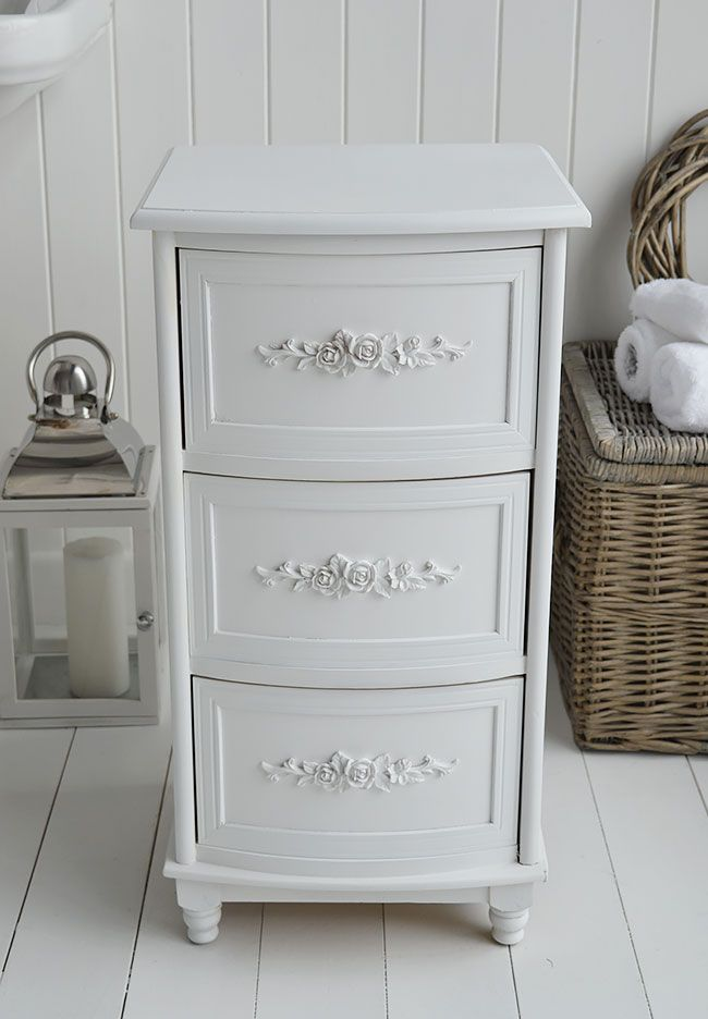 Back To Rose Whit Bathroom Drawers For Cottage Decor In Bathroom