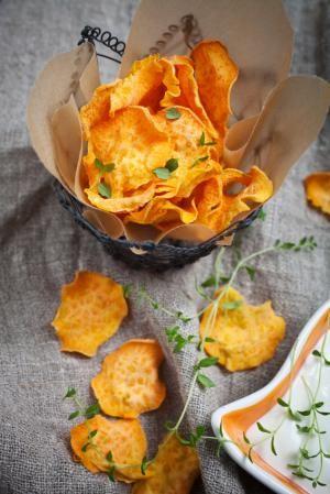 Cómo hacer chips de boniato #recetas #verduras #hortalizas