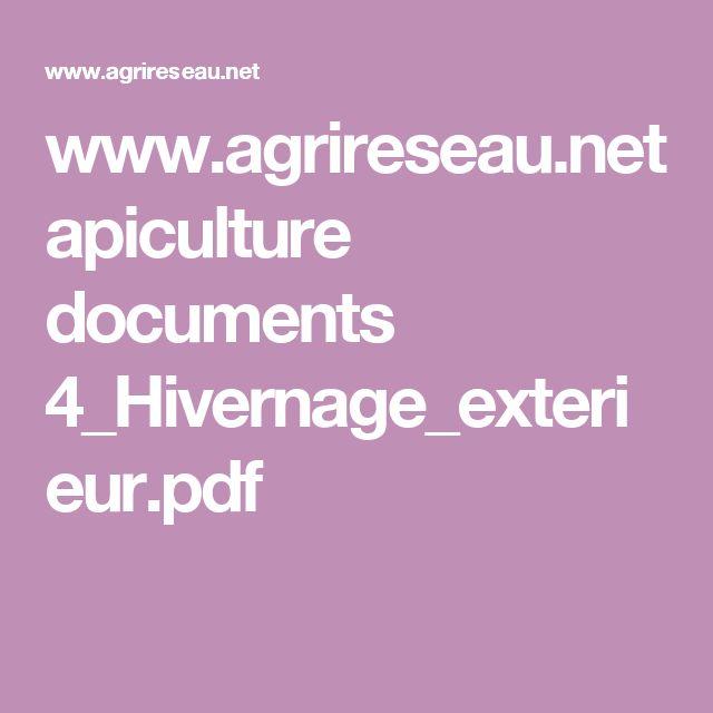 www.agrireseau.net apiculture documents 4_Hivernage_exterieur.pdf