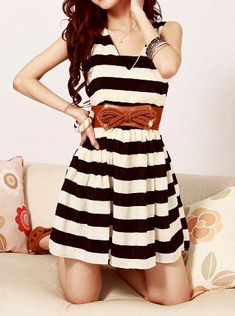 Black and White Striped Dress.. $18.99!