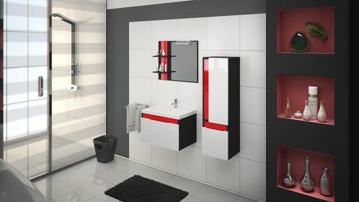 Czerwone dodatki ożywią każde wnętrze. Dodają ciepła i sprawiają, że łazienka staje się mniej surowa.