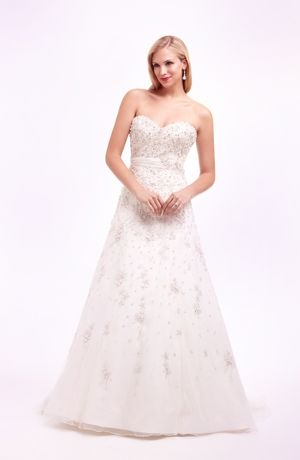 Sweetheart A-Line Wedding Dress  with Natural Waist in Organza. Bridal Gown Style Number:32421125