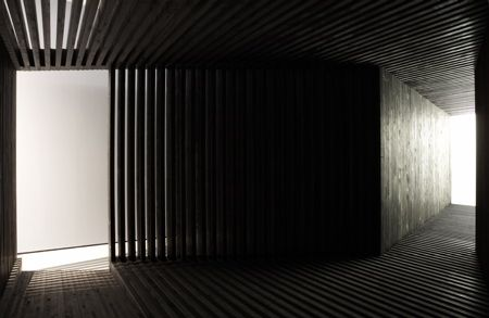 Your Black Horizon Art Pavilion - by Olafur Eliasson and David Adjaye, 2005