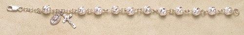 "$103 Sterling Silver Rosary Bracelet Bracelets Catholic 7mm Swirl Bead 7.5"" Standard Length by HMH Regina, http://www.amazon.com/dp/B0039UVJJE/ref=cm_sw_r_pi_dp_nv9Zqb13E118T"