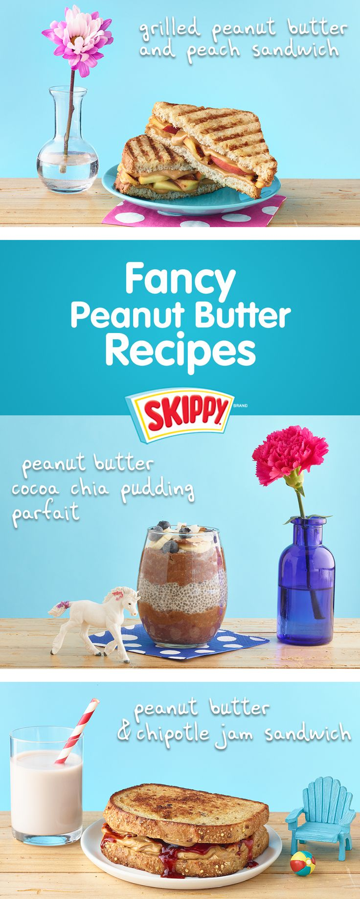 FancEE ShmancEE recipes are easEE with SKIPPY® Peanut Butter! Easy Peanut Butter Recipes | Recipe Ideas | Peanut Butter | SKIPPY® Peanut Butter