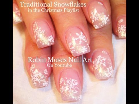 ▶ Nail Art Tutorial | DIY Christmas Nails | Traditional White Snowflake Nail Design - YouTube