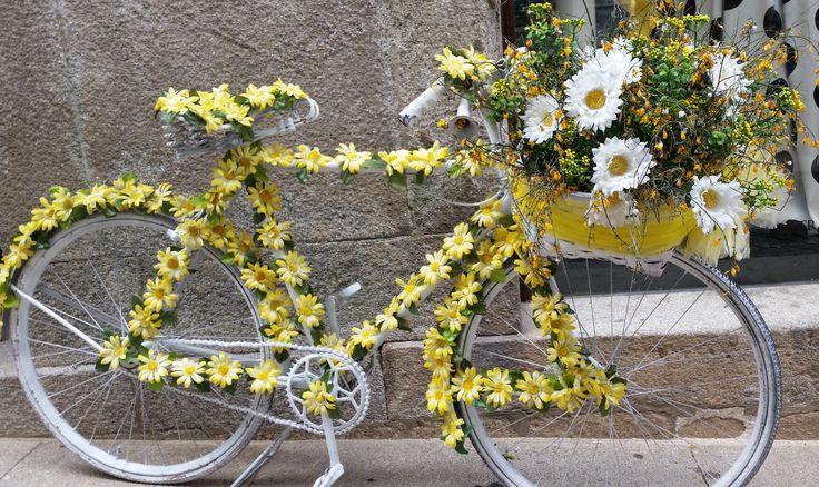 Estava a passar por Valença do Minho Portugal vi esta bicicleta não resisti e tirei esta foto