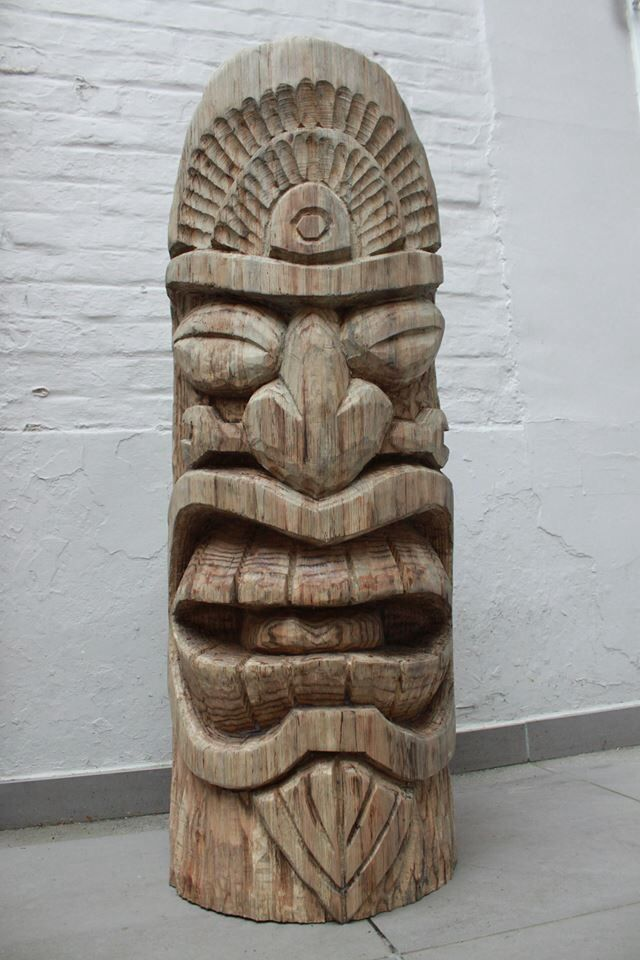 Best images about tiki faces totems on pinterest