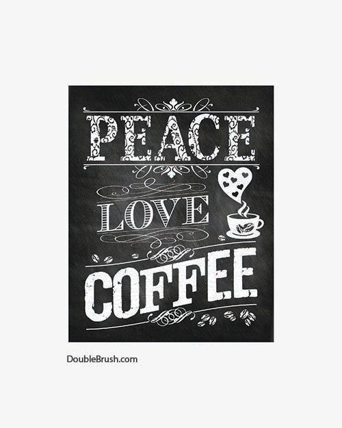 Kitchen Art Chalkboard Decor Coffee Sign by HappyHomeDecorPrints, $12.00
